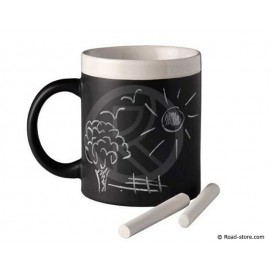Chalkboard mug with chalk