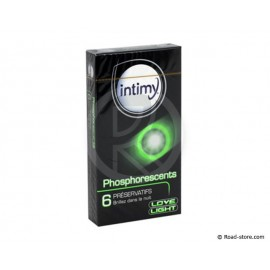 Condoms phosphorescent x6 intimy