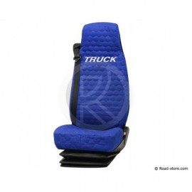 Seat cover light blue for truck MAN