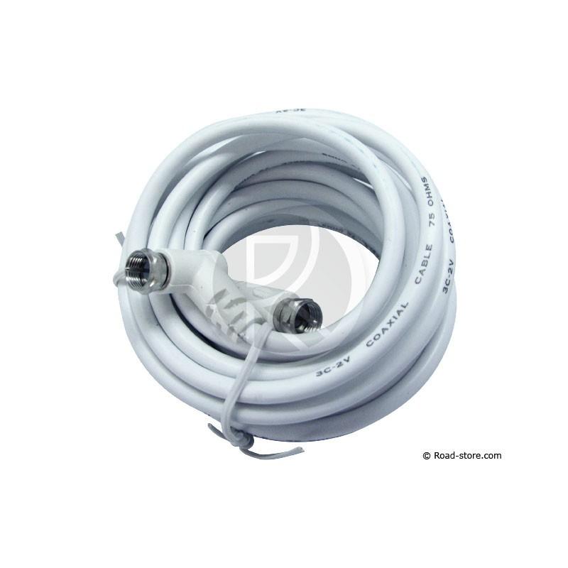 cable coaxial renforce 3 5m pour antenne tv road store. Black Bedroom Furniture Sets. Home Design Ideas