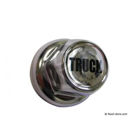 "Truck Nut Caps Chrom ""TRUCK"" 33MM X 10"
