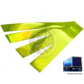 Reflektierendes Band 4 X 50 cm Gelb