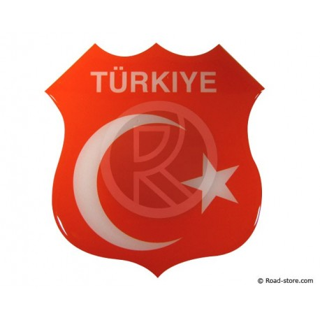 "Self-adesive embossed sticker ""TÜRKIYE"""