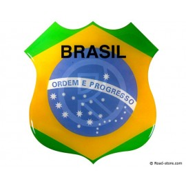 SELF-ADHESIVE EMBOSSED STICKER BRASIL 112x120 mm