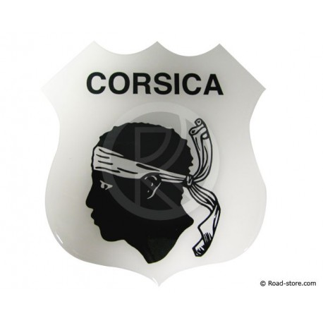 SELF-ADHESIVE EMBOSSED STICKER Corsica
