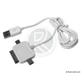 Kabel Anschluss 3 IN 1 MINI USB+USB+Stecker APPLE