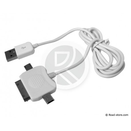 Cable Connection 3 IN 1 MINI USB+MICRO USB+Connector APPLE