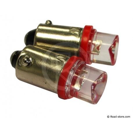 AMPOULE 1 LED BA9S 12V ROUGE X2