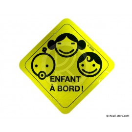"Disc ""child on board"" ELECTROSTATIC 14CM"
