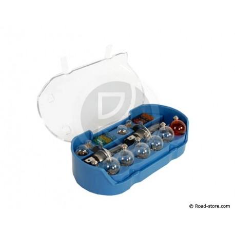Box : 18 Glühlampe H4 12V + 6 Sicherungen