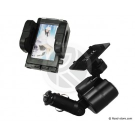 SUPPORT 4 EN 1 TEL/GPS/PDA... + PHOTO + USB + AC 12/24V