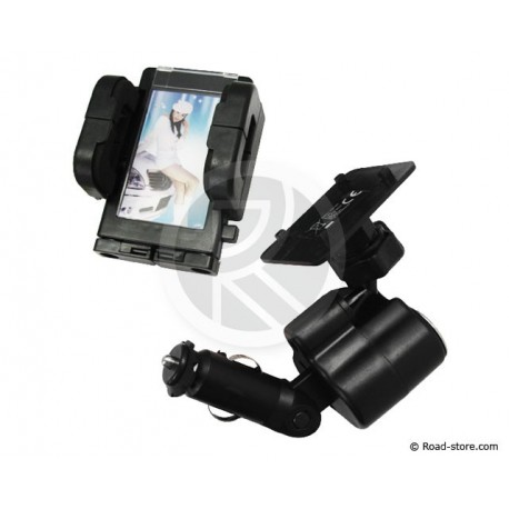SUPPORT 4 EN 1 TEL/GPS/PDA + PHOTO + USB + AC 12/24V
