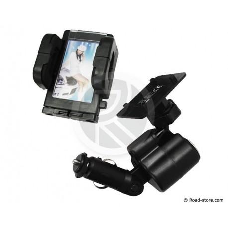 Support 4 IN 1 Tel/GPS/PDA+FOTO+USB+AC 12/24V