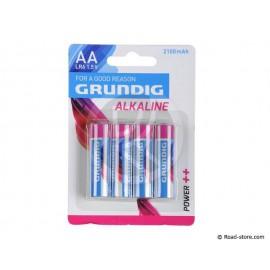 Batterie LR6 AA 1,5V GRUNDIG BLISTER x 4