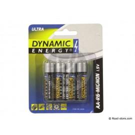 PILE LR06 AA DYNAMIC ENERGY 1,5V BLISTER DE 4