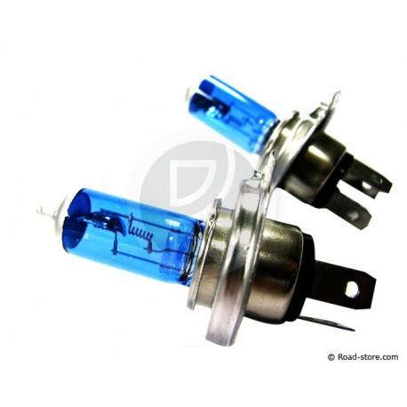 COFFRET AMPOULE H4 P43T 12V 60/55W XENON BLEU X 2