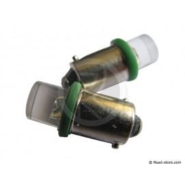 Bulb 1 led BA9S 24V green X2