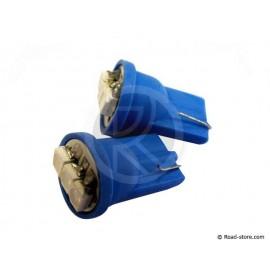 Bulb 3 LEDS WEDGE BASE T10 24 VOLTS Blue X2