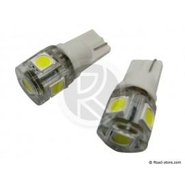 Glühlampe 5 SMD LEDS WEDGE BASE T10 24V Weiß X2