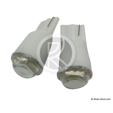 Bulb 1 SMD LED WEDGE BASE T10 12V White X2