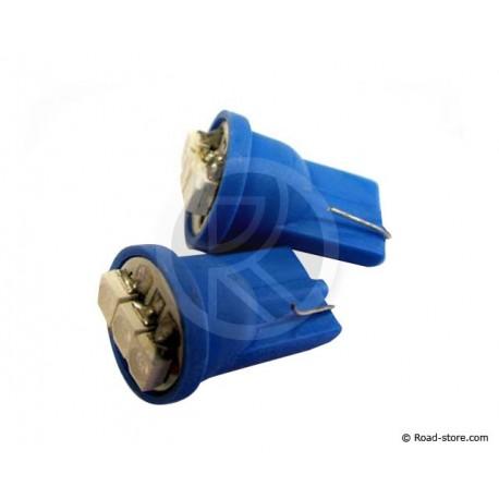 AMPOULE 3 LEDS WEDGE BASE T10 12V BLEUE X2