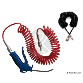 Cleaning Kit : Air duster Gun RENAULT + Spiral Extension 10 m