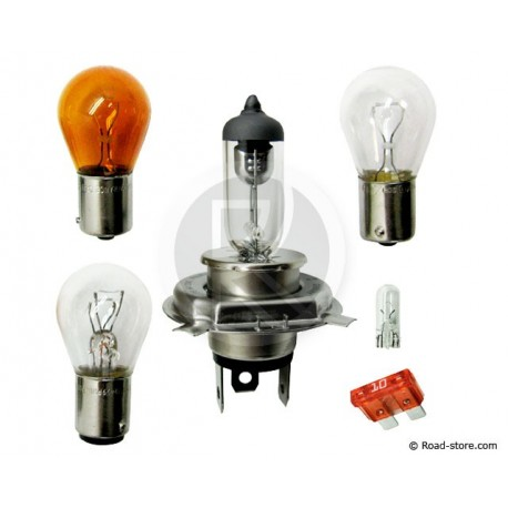 COFFRET AMPOULE H4 12V 5 AMPOULES + 1 FUSIBLE (PHILIPS)