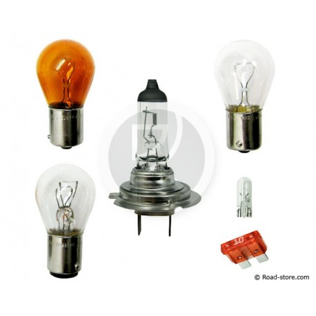 COFFRET AMPOULE H7 12V 5 AMPOULES + 1 FUSIBLE (PHILIPS)