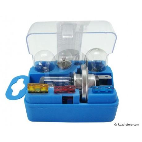 Box : 5 Glühlampen H4 12V + 3 Sicherungen