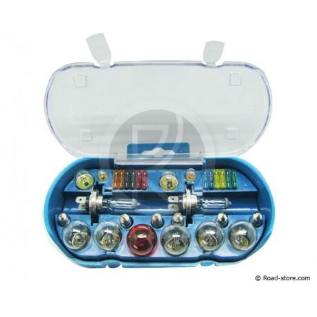COFFRET AMPOULE H7 12V 18 AMPOULES + 6 FUSIBLES