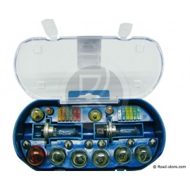 COFFRET AMPOULE H7 24 VOLTS + FUSIBLES 30 PCES ASS.