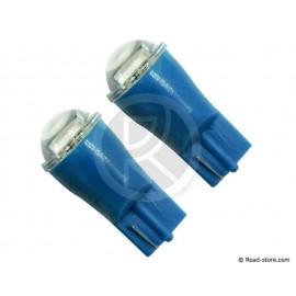Glühbirne 1 SMD Led Wedge Base T10 12V Blau X2