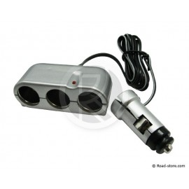 Triple car charger 12/24V Max 8A