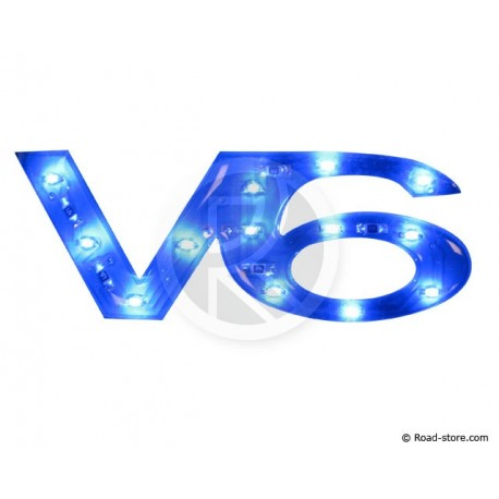 "DECORATION ""V6"" ADH 13 LEDS H. 2 CM 12V BLEU"