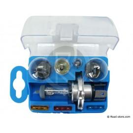 COFFRET AMPOULE H4 24V 5 AMPOULES + 3 FUSIBLES