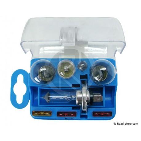 Box : Glühlampe H7 12V 5x + 3 Sicherungen