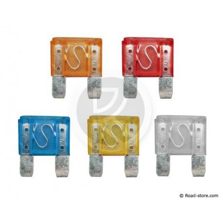 FUSIBLE FICHE GM + INDIC. A LED x 5 pces (5  25A)
