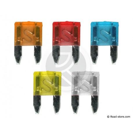 FUSIBLE FICHE PM + INDIC. A LED x 5 pces (5  25A)