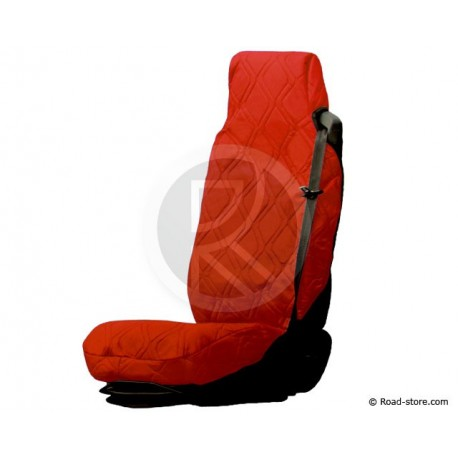 Universal Seat Cover Red Simulated Leather