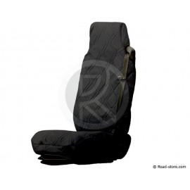 Universal Seat Cover Black Simulated Leather