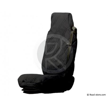 Universal Sitzbezüge Schwarz Kunstleder für Lkw