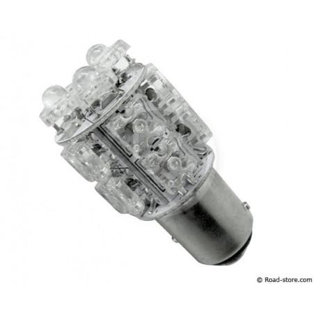 Bulb 13 LEDS BAY15D 24V Blue (STOP LIGHT)