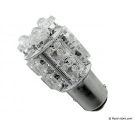 AMPOULE 13 LEDS BAY15D 24V BLANC (FEU STOP)