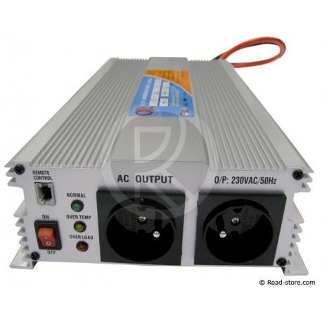 CONVERTISSEUR 24V/230V/1500W (PRISE N.F.)