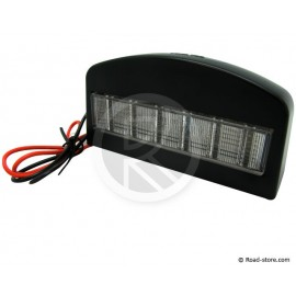 Fire Licence plate Light 12 LEDS 24V BLACK