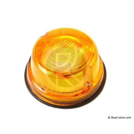Flat Round Fire Orange