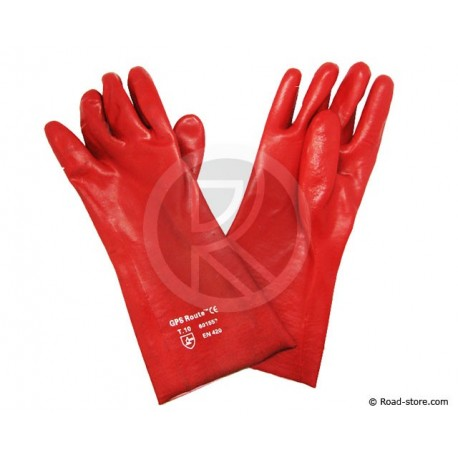Gloves PVC hydrocarbon Size 10