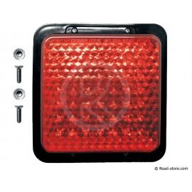 Rücklicht 49 LEDS 10-30V 12X12CM Rot