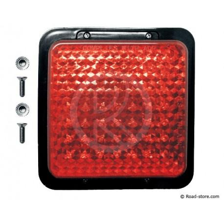 FEU ARRIERE 49 LEDS 10-30V 12X12CM ROUGE
