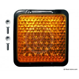 FEU ARRIERE 49 LEDS 10-30V 12X12CM ORANGE